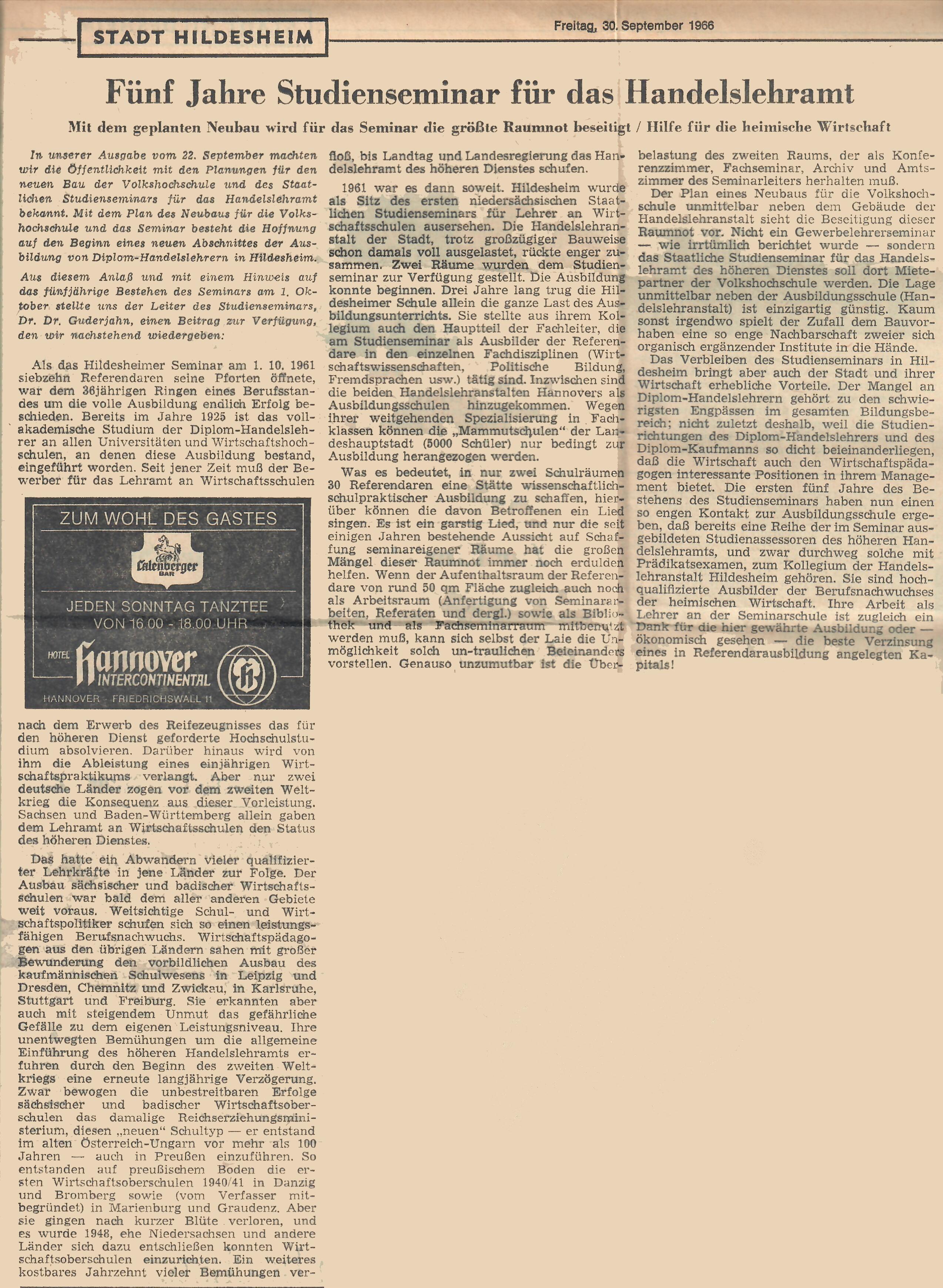images/Seminarchronik/1966_5-jhriges_Bestehen_HAZ_b.jpg